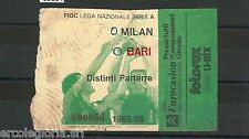 59684  - Vecchio  BIGLIETTO PARTITA CALCIO - 1985 / 1986 : MILAN /  BARI