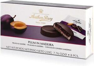 Anthon Berg Plum in Madeira Marzipan in Dark Chocolate 220g