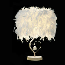 Fluffy Feather Bedside Reading Room Sitting Room Heart Crystal Table Lamp Lights
