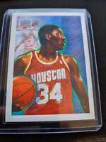 1990-91 Hoops #364 Hakeem Olajuwon Checklist Art Card Houston Rockets Mint