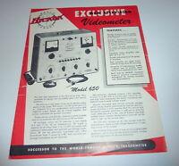 Hickok Model 650   Manual / Brochure  Television Repair - Info Excellent  C-Pics
