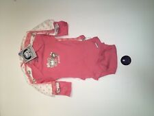 Gerber Girl Long Sleeve 4 Piece Set Size 0-3 Months Baby Infant Pink Bears