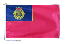 More details for royal canadian mounted police ensign flag with rope and toggle - various sizes
