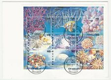 Guyana: Mini sheet of thematic Marine Faune cover with special postmark. GU06*