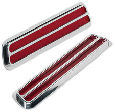 BILLET SPECIALTIES 69 CAMARO TAIL LIGHTS,FLUSH MOUNT,SLOTTED,WITH CHROME BEZELS