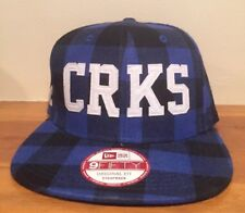 Crooks and Castles New Era 9Fifty Blue Flannel Snapback Hat Cap