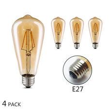 Edison Vintage Glühbirne LED 4 Stück,(4W, E27, 400LM,Warmweiß/3000K)