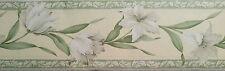 Brewster Wallcovering White Lily Flower Wallpaper Border ( item#3