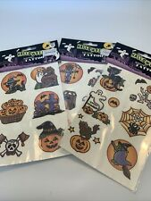 Vintage Kids Halloween Temporary Removable Tattoos 3 Sheets NOS Ghosts Pumpkins