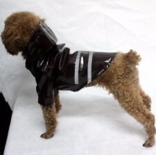 Hundemantel Regenmantel Hundebekleidung Hundejacke Luxus L Schwarz NEU OVP