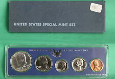 1966 US Special Mint Set SMS 5 Coins with 40% Silver Kennedy Half Dollar and Box