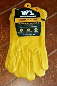 Wells Lamont Heavy Duty Cowhide Gloves w/Adjustable Wrist! Choose From ☆3☆ Sizes