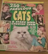 76-Page Color Book 250 Fabulous Cats & Stars who Cherish Them (1992)