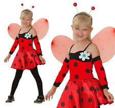 Childrens Ladybird Fancy Dress Costume Ladybug Kids Childs Outfit S