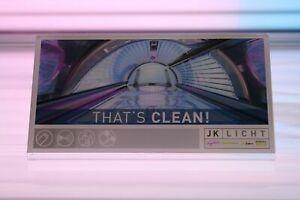 """Ergoline Solarium Hygieneschild """"Thats Clean!"""" L-Aufsteller Acryl"""