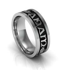 "Sterling Silver Men's ""Mo Anam Cara"" Celtic Wedding Ring 7.3mm"