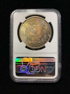 1885 O Morgan Silver Dollar $1 NGC MS62 Old Uncirculated BU Rainbow Toned