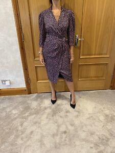 Rebecca Taylor Floral Silk Blend Wrap Dress/UK 8