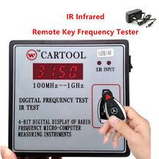 AUTO IR infrarosso telecomando chiave FREQUENZA TESTER DIGITALE MISURATORE DI FREQUENZA 100mhz-1ghz