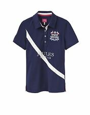 Joules Liberty Horse Riding Fashion Short Sleeve Embroided Top Polo T-Shirt NEW