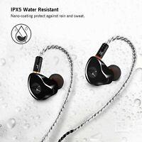 in-Ear Monitors, Wired Earbuds Headphones/Earphones/Headset Dual Black With Mic