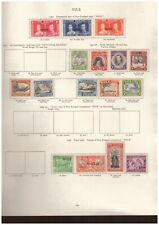 Niue -  George VI MINT STAMPS FROM SG Printed Album - values to 3 shillings