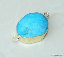 Ocean Blue - Druzy Connector - Quartz Druzy Agate - Druzy Connector- 30-35mm