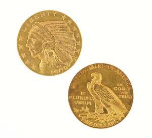 $5 Half Eagle Indian Head CU Raw Gold (Random Year)