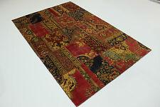 Modern Patchwork Stone Wash Antik Look Perser Teppich Orientteppich 3,02 X 2,00
