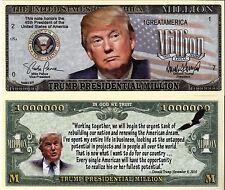 President Trump Presidential Million Dollar Novelty Money