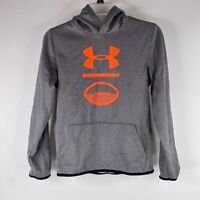 Under Armour Boys Gray Cold Gear Pouch Pocket Long Sleeve Hoodie Sweatshirt YLG