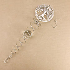Tree Of Life Silver Spiral Hanging Mobile Crystal Ball Crystals Hippie Spirtual