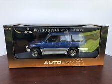 1:18 AutoArt Mitsubishi pajero Blue 4 Door