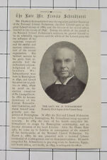 Mr Francis Schnadhorst National Liberal Federation Vintage 1900 News Clipping