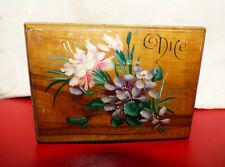 Ancienne Boite en Bois d'Olivier 1900 Souvenir de Nice Coffret à Bijoux