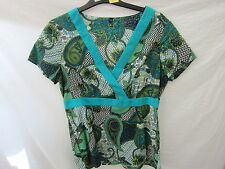 Paisley V Neck Unbranded Casual Tops & Shirts for Women