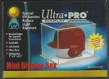 1 Ultra Pro Football and Baseball Mini Helmet Holder Cube UV protect Display Box