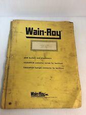 Wain Roy Swinger Bucket System On Case 680k Parts Amp Service Manual