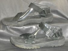 Teva mens black fabric open toe quarter strap sport sandals shoes size M 11