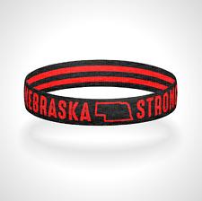 Nebraska Strong Reversible Wristband Bracelet Made in USA