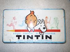 Tintin rare boite de 12 crayons de couleurs Koh I Noor Hardmuth *