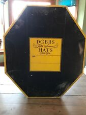 Old Vtg Dobbs Fifth Avenue Hats New York Hat Box Advertising Octagon Shape