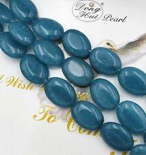 "13x18mm Natural Brazilian Aquamarine Oval Gemstone Loose Beads 15""AAA PL28"