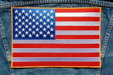 GIANT AMERICAN FLAG Biker Motorcycle Back Patch from Dixiefarmer
