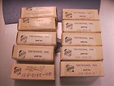 Lot of 10 Vintage Tektronix Electronic Tubes w/Boxes