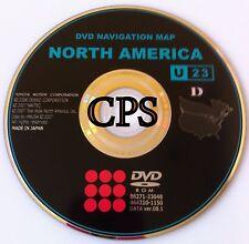 Genuine Toyota Gen 4 Navigation DVD # U23 08.1 Released © 9/2008 Map Update 2009