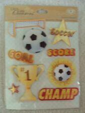 K & Company Soccer Medley Sticker Crafts 30-587205 Scrapbook