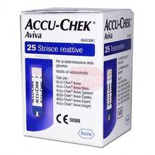 AVIVA ACCU-CHEK AVIVA  25 STRISCE REATTIVE GLICEMIA GLUCOSIO + OMAGGIO ROCHE
