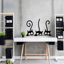 DIY Three Cats Wall Stickers Removable Living Room Decor Art Vinyl Mural Decals