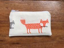 Handmade Zipped Coin Purse Made Using Fryett's Foxy Fox Fabric
